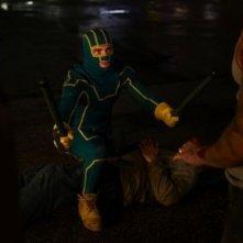 Aaron Johnson in una scena di Kick-Ass