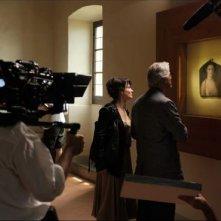 Juliette Binoche sul set di Copia conforme, di Abbas Kiarostami (2009)