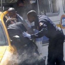 Trauma: Derek Luke in una momento drammatico dell'episodio Home Court