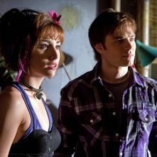 Le guest star David Gallagher e Allison Scagliotti in una scena dell'episodio Idol di Smallville