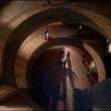 Una scena inquietante del film Sette note in nero (1977)