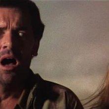 David Warbeck e Catriona MacColl in una scena dell\'horror E tu vivrai nel terrore - L\'aldilà ( 1981 )