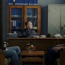 Una scena del film Police, adjective di Corneliu Porumboiu (Romania, 2009)
