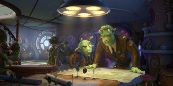 Kipple e Grawl in una scena del film d'animazione Planet 51