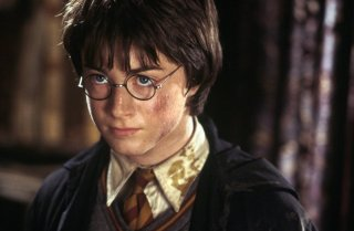Daniel Radcliffe in un momento del film Harry Potter e la camera dei segreti