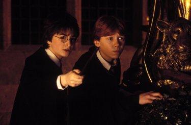 Daniel Radcliffe e Rupert Grint in una scena di Harry Potter e la camera dei segreti