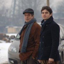 Ennio Fantastichini con Paolo Briguglia in una scena del dramma La cosa giusta