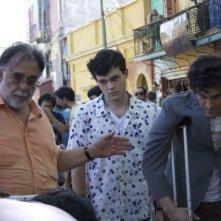 Vincent Gallo e Alden Ehrenreich con Francis Ford Coppola sul set di 'Segreti di famiglia' (Tetro, 2009)