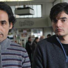 Ahmed Hefiane con Paolo Briguglia in una scena del film La cosa giusta (2009)