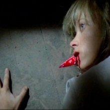 Daniela Doria in una scena del film Quella villa accanto al cimitero ( 1981 )