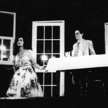 Marina Suma e Nicola Natalia, durante le prove per il film Cuori nella tormenta (regia di Enrico Oldoini)