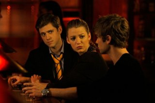 Trip (Aaron Tveit), Serena (Blake Lively) e Nate (Chace Crawford) nell'episodio The Last Days of Disco Stick di Gossip Girl