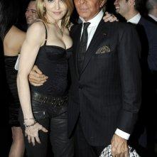 Madonna e Valentino alla premiere newyorkese del film Valentino: L'ultimo imperatore