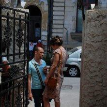 Dan Chiriac con Monica Barladeanu in una sequenza drammatica di Francesca