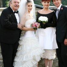 Lino Banfi, Tresy Taddei, Milena Vukotic e Michael Cadeddu in Un medico in famiglia 6