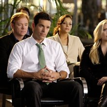 CSI Miami: David Caruso, Eddie Cibrian ed Emily Procter nell'episodio Delko for the Defense