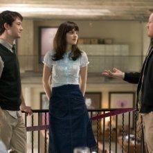 Joseph Gordon-Levitt e Zooey Deschanel sul set del film 500 giorni insieme, insieme al regista Marc Webb
