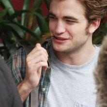 Robert Pattinson sul set del film Remember Me