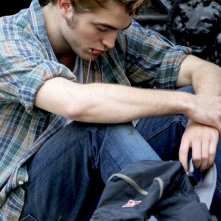 Robert Pattinson sul set del film Remember Me (2010)