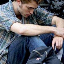 Robert Pattinson sul set del film Remember Me (2010)