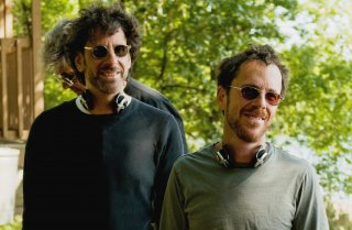 Wallpaper: Joel Coen ed Ethan Coen sul set del film A Serious Man