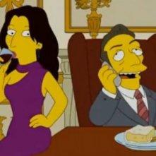 Carla Bruni e Sarkozy in versione Simpson nell'episodio The Devils Wears Nada (Stagione 21)