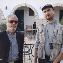 Ruben Maria Soriquez con Rinaldo Talamonti sul set di The Fall of Redemption (ph. Francesca Casadei)
