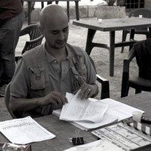 Ruben Maria Soriquez sul set di THE FALL OF REDEMPTION