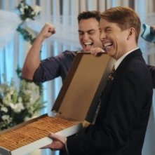 30 Rock: Jack McBrayer e Cheyenne Jackson nell'episodio The Problem Solvers