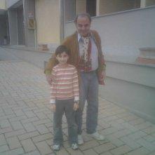 Massimo Sarchielli con Leonardo Bertuccelli sul set della miniserie Il mostro di Firenze