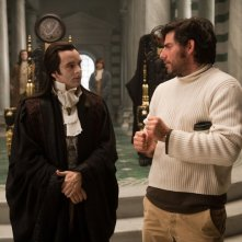 Michael Sheen e Chris Weitz sul set di Twilight: New Moon