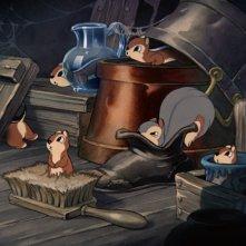I teneri animali del film Biancaneve e i sette nani ( 1937 )