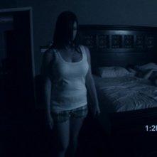Katie Featherston è la protagonista di Paranormal Activity, in una delle scene più inquietanti del film di Oren Peli