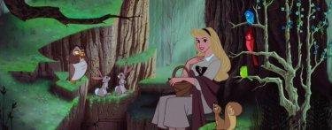 La principessa Aurora in una immagine del film d'animazione La bella addormentata nel bosco ( 1959 )