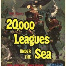 Locandina del film 20000 leghe sotto i mari ( 1954 )