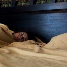 Una immagine del film Paranormal Activity, con Katie Featherston
