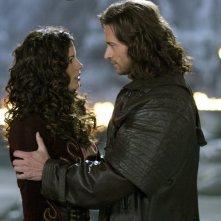Anna (Kate Beckinsale) e Abraham Van Helsing (Hugh Jackman) nel film Van Helsing