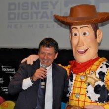 Giornate Professionali di Sorrento: la Disney, insieme a Fabrizio Frizzi, promuove Toy Story 3 tra le novità. (per gentile concessione di Primissima)
