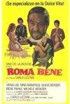 La locandina di Roma bene
