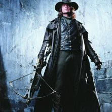 Una foto promozionale di Hugh Jackman per il film Van Helsing