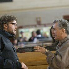 Il regista Kirk Jones e Robert De Niro sul set di Everybody's fine