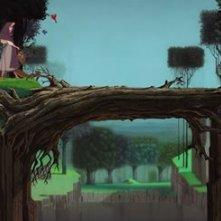 Aurora in una scena del film d'animazione La bella addormentata nel bosco ( 1959 )