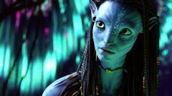 Neytiri, la cui fisionomia del viso è stata presa dall'attrice Zoe Saldana in un momento del film Avatar