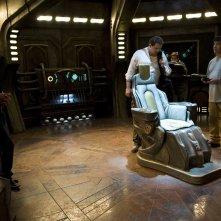 La squadra di scienziati composta da: Robert Carlyle, Mark Burgess, David Blue e Adam Brody nell'episodio Justice di Stargate Universe