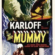 Locandina del film La mummia (1932) con Boris Karloff