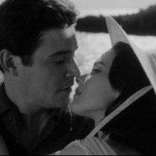 Ronald Lewis e Susan Strasberg in una scena de La casa del terrore ( 1961 )