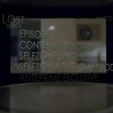 Un'immagine del menù principale del disco 1 di Lost - Stagione 5
