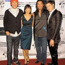 Chaske Spencer, Tinsel Korey, Gil Birmingham e Alex Meraz al 'Red Nation Film Festival', nel 2009