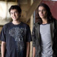 Una sequenza del film Twilight: New Moon con Tyson Houseman (Quil Ateara) e Kiowa Gordon (Embry Call)
