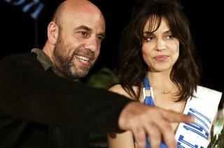 Paolo Virzì e Micaela Ramazzotti sul set del film La prima cosa bella
